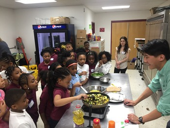 colin anderson and kids cook together 2